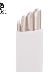 CHUSE™ S21 50pcs Permanent Makeup Needle Manual Eyebrow Tattoo Microblade 21 Sloped Needles