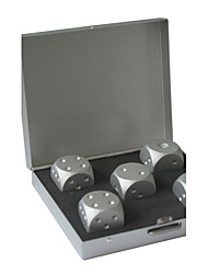 High Quality Pure Aluminum Dice Box(Contains 5 Dice)
