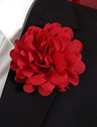Men's Casual Rde Silk Goods Brooch