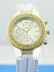 Frauen analog Legierungskasten PU-Band runden Zifferblatt chinese Quarzuhr Frauen Uhr Frauen Mode Uhr Geschenk Uhr