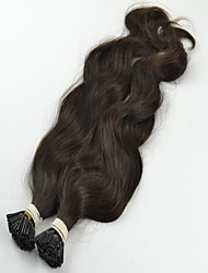 "100Strands 18""Indian Virgin Silky Straight Nail Hair Natural Black Color Pre-bonded Human Hair Extensions"