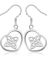 Silver Plated Heart Fashion Heart Silver Jewelry Wedding Party Daily Casual Sports 1 pair