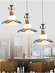UFO Gold Neck/White Glass Pandent Light with Three lights