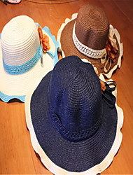 Sun Fashion Wave Flower Big Straw Hat Hat