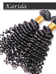 12-30 pouces brésilien coudre de cheveux humains en armure couleur naturelle profonde vague
