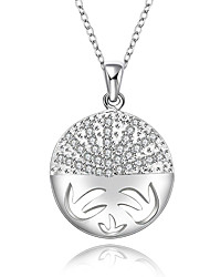 Romantic Style 925 Sterling Silver Jewelry Style Silver Plated Round Pave Zircon Pendant Necklace for Women