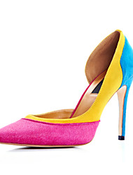Women's Shoes Cashmere Stiletto Heel Heels/Pointed Toe Pumps/Heels Dress Multi-color