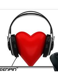 seenpin personalizado mouse pads amor arte 3d que escuta a música de design