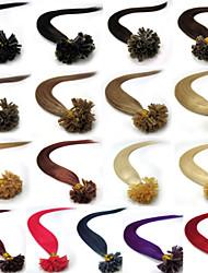"""16 """"-26"""" 0,4 g / s-0.7g / s 19colors pre-consolidado de uñas queratina u propina extensiones de cabello humano 100s"""