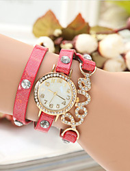 The New European Diamante Glisten LOVE Fashion Bracelet Watch