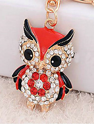 Owl Rhinestone Wedding Keychain Favor