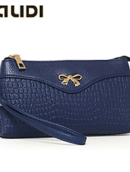 Falidi@Women'S Embossed Leather Clutch Wallet