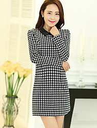 Women's Casual/Party/Work Long Sleeve Dresses (Polyester)