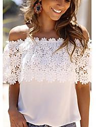 Milan vrouwen strand / casual korte mouw topjes& blouses (chiffon)
