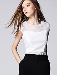 Women's Casual Micro-elastic Sleeveless Regular T-shirt (Cotton)