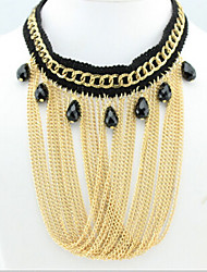 New Arrival Fashional Hot Selling Luxury Tassel Created Water Drop Necklace