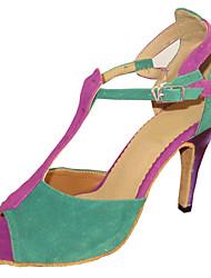 Zapatos de baile (Multicolor) - Danza latina/Salsa/Zapatos Estándar Tacón Personalizado
