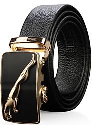 SWISSGEAR Mens Automatic Buckle Leather Belt Western Rhinestone Belts Black