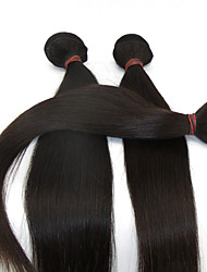 3Pcs /Lot 10''-28'' Human Hair Indian Remy Hair Virgin Soft Hair #1B Human Hair Natural Black Color Straight Hair Weaves