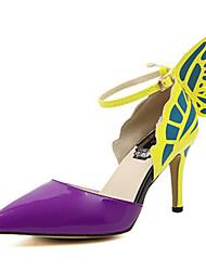 Women's Shoes Stiletto Heel Heels/Pointed Toe Pumps/Heels Party & Evening/Dress Black/Yellow/Purple