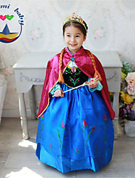 Girl's All Seasons Long Sleeve Dresses Shawl Two Pieces Sets (Cotton Blends)