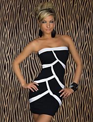 Vestidos ( Algodón Compuesto )- Sexy Sin tirantes Sin Mangas para Mujer