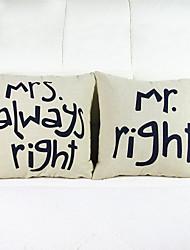 Набор из 2 суженого бросок подушки крышки наволочка случай диван домашнего декора подушке (16 * 16 дюймов)
