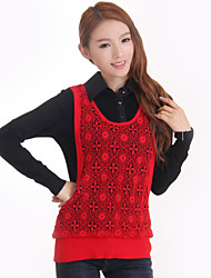 2015 women shirt collar knitted sweater