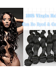 "Virgin Brazilian Hair Extension Natural Color 8""-30""100% Human Hair Weave Loose Wave Retail 1pc/lot Brazilian Hair"