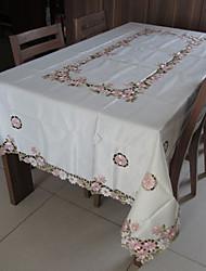 klassieke witte geborduurde tafelkleden rechthoek (grootte: 150cmx220cm)