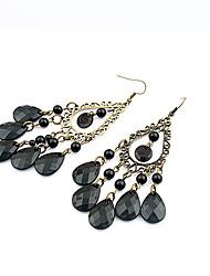 Women's European Style Fashion Bohemian Style Water Droplets Alloy Earrings