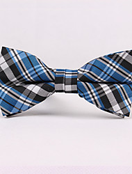 Blue Plaid Bow Ties