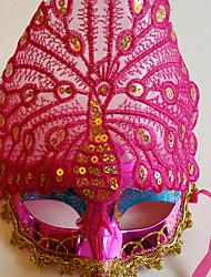 pavão exibido multa partido penas da cauda halloween masquerade máscara cor-de-rosa