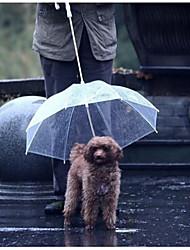 Petcircle Umbrella Dog Keeps Your Pet Dry and Comfortable in Rain Transparent Pet Umbrella