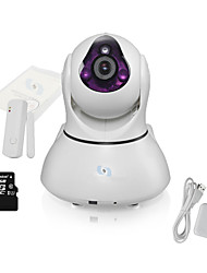 Snov Wireless IR IP PTZ Camera with Door Sensor & 64GB TF card,Motion Detection, P2P Wifi IP Camera Alarm with APP
