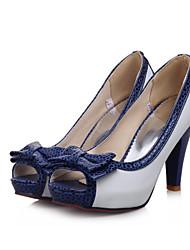 Damen-High Heels-Lässig Party & Festivität Kleid-PU-StöckelabsatzWeiß Beige Blau Rosa