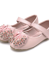 Girl's Flats Spring Fall Comfort Flower Girl Shoes Tulle Leatherette Wedding Party & Evening Dress Casual Flat HeelRhinestone Crystal