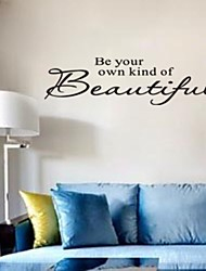 Be Your Kind Of Beautiful Home Decoration Quote Wall Decal ZY8080  Adesivo De Parede Removable Sticker