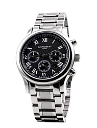 Men's Calendar Analog Stainless Steel Case Round Dial Stainless Steel Band Japan Automatic Watch(Assorted Colors)