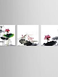 живопись маслом украшения абстрактная ручной росписью холст с натянутой в рамке - набор из 3