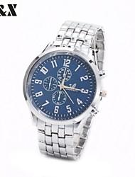 Men's Fashion Diamond Number Between Gold Quartz Analog Steel Belt Watch(Assorted Colors) Cool Watch Unique Watch