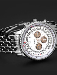 JINSHI  2015 New Men's High Quality European Steel  Quartz Watch