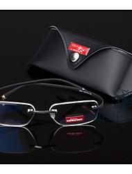 [Lentes Gratis] Unisex 's Rectángulo Sin Montura Gafas de Leer