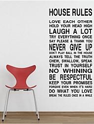 regole della casa armonia in questa casa citazione adesivo decorativo zooyoo8010 parede diy adesivo da parete in vinile smontabile
