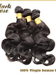 Brazilian Virgin Hair Body Wave,Black Rose Hair Products 3Pcs Brazilian Hair Weave Bundles, Human Hair Body Wave