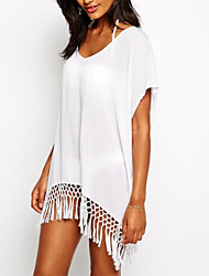 Damen Cover-Up - Einfarbig Chiffon