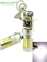H3 PK22S 10W 900Lm 5 x COB LED Cold White Light Polarity Free Car Foglight / Headlamp / Tail Light (12-24V)