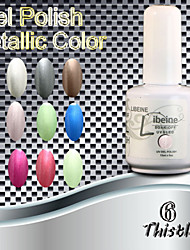 Libeine 1pc gel de color ultravioleta de metal profesional no. 006 cardo