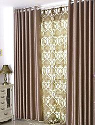 Dining Room Solid Suede Process European Style Curtains Drapes Two Panels