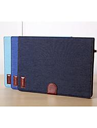 caso inteligente estande jean com bolsas para ipad 2/3/4 (cores sortidas)